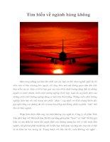 Tìm hiểu về ngành hàng không
