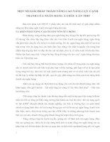 MỘT SỐ GIẢI PHÁP NHẰM NÂNG CAO NĂNG LỰC CẠNH TRANH CỦA NGÂN HÀNG Á CHÂU CẦN THƠ