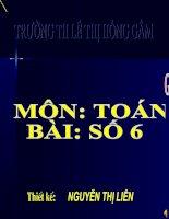 Toan lop 1 Bai so 6
