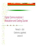 Modulation and coding course- lecture 2