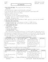 Bài giảng GIÁO ÁN SINH HỌC 8 HKI