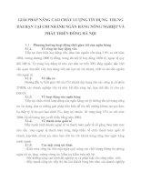 GIẢI PHÁP NÂNG CAO CHẤT LƯỢNG TÍN DỤNG  TRUNG  DÀI HẠN TẠI CHI NHÁNH NGÂN HÀNG NÔNG NGHIỆP VÀ PHÁT TRIỂN ĐÔNG HÀ NỘI