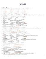 Bài soạn 12 CB UNIT 11 TEST 3