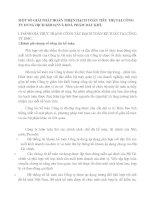 MỘT SỐ GIẢI PHÁP HOÀN THIỆN HẠCH TOÁN TIÊU THỤTẠI CÔNG TY DUNG DỊCH KHOANVÀ HOÁ PHẨM DẦU KHÍ