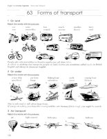 English Vocabulary Organiser with Key_Forms of transport