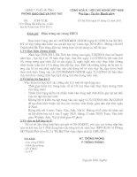 Bài giảng công văn hướng dẫn báo cáo sơ kết học kỳ I THCS