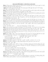 Bài soạn Bài tập hình học & đại số 7