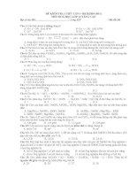 Bài giảng (Có đáp án) Đề KT Hoá 12 số 1 HK2 mới nhất