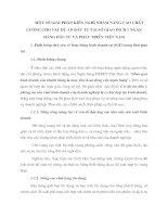 MộT Số GIảI PHáP, KIếN NGHị NHằM NÂNG CAO CHấT LƯợNG CHO VAY Dự áN ĐầU TƯ TạI Sở GIAO DịCH 1 NGÂN HàNG ĐầU TƯ Và PHáT TRIểN VIệT NAM