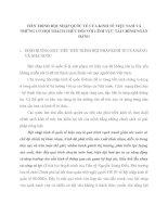 TIẾN TRÌNH HỘI NHẬP QUỐC TẾ CỦA KINH TẾ VIỆT NAM VÀ NHỮNG CƠ HỘI THÁCH THỨC ĐỐI VỚI LĨNH VỰC TÀI CHÍNH NGÂN HÀNG