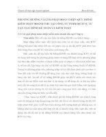 PHƯƠNG HƯỚNG VÀ GIẢI PHÁP HOÀN THIỆN QUY TRÌNH KIỂM TOÁN DOANH THU TẠI CÔNG TY TNHH DỊCH VỤ TƯ VẤN TÀI CHÍNH KẾ TOÁN VÀ KIỂM TOÁN