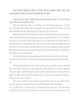 GIẢI PHÁP NHẰM TĂNG CƯỜNG HOẠT ĐỘNG CHO VAY TẠI NGÂN HÀNG CÔNG THƯƠNG TỈNH HƯNG YÊN