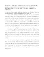 NHẬN XÉT ĐÁNH GIÁ VÀ MỘT SỐ Ý KIẾN ĐỀ XUẤT NHẰM HOÀN THIỆN CÔNG TÁC KẾ TOÁN CHI PHÍ SẢN XUẤT VÀ TÍNH GIÁ THÀNH SẢN PHẨM  Ở  CÔNG TY TƯ VẤN THIẾT KẾ KIẾN TRÚC SÔNG CẦU