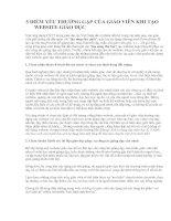 5 ĐIỂM YẾU THƯỜNG GẶP CỦA GIÁO VIÊN KHI LÀM WEBSTE