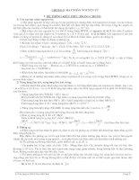 Gián án BT TRẮC NGHIỆM CHƯƠNG I X(Giải và ĐA)