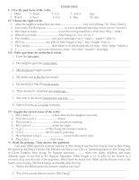 Tài liệu BÀI TẬP TIẾNG ANH 7- UNIT 9