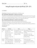 Bài hướng dẫn ôn tập học kỳ 1 ( 2010 -  2011)