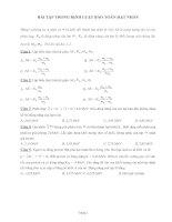 Gián án Bài tập trong định luật bảo toàn hạt nhân