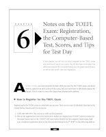 Notes on the TOEFL Exam - Registration, the Computer-Based Test, Scores, and Tips for Test Day