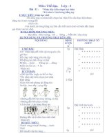 Bài giảng thể dục lớp 4 bài 41, 42