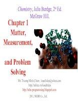 Bài giảng Chapter 1 Matter,Measurement, and Problem Solvin