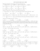 Bài tập mạch điện xoay chiều luyện thi đại học ( có đáp án)