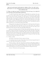 MỘT SỐ GIẢI PHÁP NHẰM HOÀN THIỆN CÔNG TÁC KẾ TOÁN BÁN HÀNG VÀ XÁC ĐỊNH KẾT QUẢ BÁN HÀNG TẠI CHI NHÁNH DẦU KHÍ HÀ NỘI