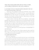 THỰC TRẠNG HOẠT ĐỘNG MÔI GIỚI TẠI CÔNG TY TNHH CHỨNG KHOÁN NHNO&PTNT VIỆT NAM  (AGRISECO)