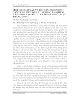 MỘT SỐ GIẢI PHÁP VÀ KHUYẾN NGHỊ NHẰM NÂNG CAO HIỆU QUẢ KHAI THÁC BẢO HIỂM HÀNG HÓA TẠI CÔNG TY BẢO HIỂM BƯU ĐIỆN THĂNG LONG