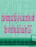 Bài 10: THIÊN NHIÊN NHIỆT ĐỚI ẨM GIÓ MÙA (Tiếp theo)