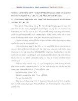 NHỮNG GIẢI PHÁP KIẾN NGHỊ NHẰM NÂNG CAO HIỆU QUẢ KINH DOANH NGOẠI TỆ TẠI CHI NHÁNH NHNO&PTNT HÀ NỘI