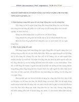 MỘT SỐ Ý KIẾN ĐỀ XUẤT NHẰM NÂNG CAO CHẤT LƯỢNG CHO VAY HỘ NÔNG DÂN TẠI NHNo