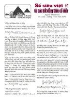 Bài soạn SỐ SIÊU VIỆT VÀ BẤT ĐẲNG THỨC CỔ ĐIỂN