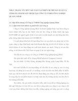 THỰC TRẠNG TỔ CHỨC KẾ TOÁN TẬP HỢP CHI PHÍ SẢN XUẤT VÀ TÍNH GIÁ THÀNH SẢN PHẨM TẠI CÔNG TY TNHH CÔNG NGHIỆP QUANG MINH