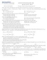 Bài giảng Đề thi thử ĐH Môn Vật lý _ Đề số 10
