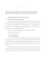 THỰC TẾ CÔNG TÁC KẾ TOÁN CHI PHÍ SẢN XUẤT VÀ TÍNH GIÁ THÀNH SẢN PHẨM XÂY LẮP TẠI CÔNG TY CẦU 7 THĂNG LONG