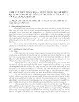 MỘT SỐ Ý KIẾN NHẰM HOÀN THIỆN CÔNG TÁC KẾ TOÁN QUẢN TRỊ CHI PHÍ TẠI CÔNG TY CỔ PHẦN TƯ VẤN ĐẦU TƯ VÀ XÂY DỰNG COSEVCO