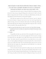 MỘT SỐ KIẾN NGHỊ NHẰM GÓP PHẦN HOÀN THIỆN CÔNG TÁC KẾ TOÁN TẬP HỢP CHI PHÍ SẢN XUẤT VÀ TÍNH GIÁ THÀNH SẢN PHẨM TẠI NHÀ MÁY GIẦY PHÚC YÊN