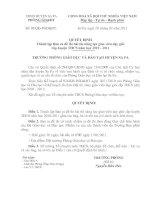 Bài soạn Quyết định thành lập ban ra đề thi nghiệp vụ giáo viên 2010 - 2011