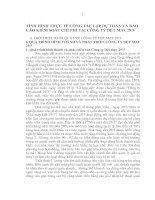 TÌNH HÌNH THỰC TẾ CÔNG TÁC LẬP DỰ TOÁN VÀ BÁO CÁO KIỂM SOÁT CHI PHÍ TẠI CÔNG TY DỆT MAY 29_3