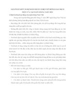 GIẢI PHÁP KIẾN NGHỊ NHẰM HOÀN THIỆN MÔ HIÌNH GIAO DỊCH MỘT CỬA TẠI NGÂN HÀNG NAM VIỆT