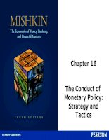 The Conduct of  Monetary Policy: Strategy and Tactics