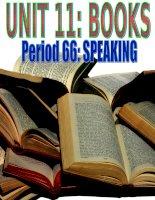 Gián án unit 11, books, speaking