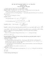 Tài liệu 2 đề thi thử Đại học môn Toán tham khảo và đáp án