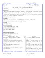 Bài soạn Tiết 39.Bài 36 . Các phương pháp chọn lọc