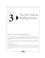 The SAT Critical Reading Section