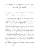 PHÂN TÍCH TÌNH HÌNH TÀI CHÍNH CỦA CÔNG TY XNK THIẾT BỊ TRUYỀN HÌNH CHỦ YẾU THÔNG QUA BẢNG CÂN ĐỐI KẾ TOÁN VÀ BÁO CÁO KẾT QUẢ KINH DOANH