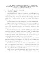 LỊCH SỬ HÌNH THÀNH VÀ PHÁT TRIỂN CỦA NGAN HÀNG THƯƠNG MẠI, MỘT SỐ VẤN ĐỀ CƠ BẢN VỀ HUY ĐỘNG VỐN CỦA NGÂN HÀNG THƯƠNG MẠI