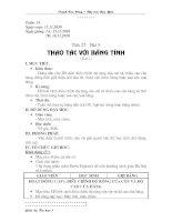 Tiết 27 - Thao tác với bảng tính (t1)
