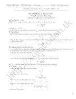 Gián án Câu hỏi trắc nghiệm vật lý 11 theo từng bài học